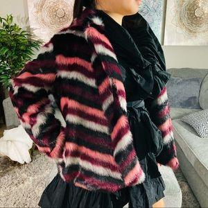 Michael Kors chubby faux fur fashion coat NWT
